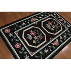 One-of-a-Kind Griswalda Dhurry Kilim Reversible Hand-Woven Black Area Rug