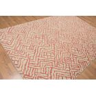 One-of-a-Kind Raab Hand-Knotted Wool Pink Area Rug