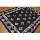 One-of-a-Kind Waxman Hand-Knotted Wool Black Area Rug