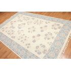 One-of-a-Kind Laszlo Needlepoint Aubusson Hand-Woven Beige Area Rug