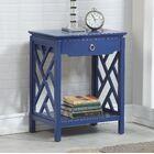 Ingraham 1 Drawer Nightstand Color: Navy Blue