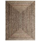 St Catherine Hand-Woven Brown Indoor/Outdoor Area Rug Rug Size: Rectangle 6' x 9'