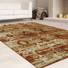 Mcginley Rust/Brown Area Rug Rug Size: Rectangle 8' x 10'