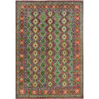 One-of-a-Kind Millender Babafemi Hand-Knotted Wool Red/Green Area Rug