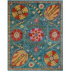 One-of-a-Kind Millbourne Fine Chobi Gyasi Hand-Knotted Wool Blue Area Rug