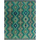 One-of-a-Kind Renita Kilim Hand-woven Wool Ivory/Blue Area Rug