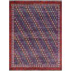 One-of-a-Kind Millender Chioke Hand-Knotted Wool Purple Are Rug