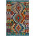 One-of-a-Kind Renita Kilim Hand-woven Wool Brown/Blue Area Rug