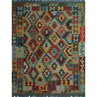 One-of-a-Kind Renita Kilim Hand-Woven Wool Red/Blue/Yellow Area Rug