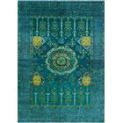 One-of-a-Kind Millender Kesi Hand-Knotted Wool Blue Are Rug