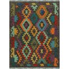 One-of-a-Kind Renita Kilim Hand-Woven Wool Brown/Gray Area Rug