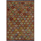 One-of-a-Kind Renita Kilim Hand-Woven Wool Brown Area Rug