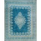 One-of-a-Kind Millner Distressed Iverem Hand-Knotted Wool Blue Are Rug