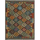 One-of-a-Kind Renita Kilim Hand-Woven Wool Gray Area Rug