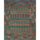 One-of-a-Kind Renita Kilim Hand-woven Wool Green/Red Area Rug