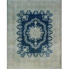 One-of-a-Kind Millner Distressed Oni Hand-Knotted Wool Blue Are Rug