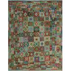 One-of-a-Kind Renita Kilim Hand-woven Wool Green Area Rug
