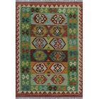 One-of-a-Kind Renita Kilim Hand-woven Wool Burgundy/Green Area Rug
