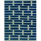 One-of-a-Kind Deb Kilim Hand-Woven Blue Are Rug