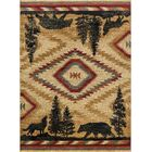 Villicana Colorblock Wildlife Novelty Lodge Ivory Area Rug Rug Size: 3'11'' x 5'3''