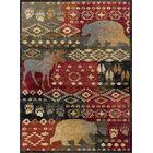 Villeda Novelty Lodge Red Area Rug Rug Size: 5'3'' x 7'3''