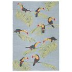Stender Toucans Hand-Tufted Gray/Green Area Rug Rug Size: Rectangle 7'6