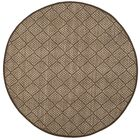 Raiden Brown Area Rug Rug Size: Round 6'