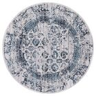 Queenan Beautifully Vintage Blue/Gray Area Rug Rug Size: Round 5'3