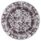 Queenan Beautifully Vintage Red/Gray Area Rug Rug Size: Round 7'10