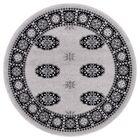 Veliz Superior Quality Bokhara Gray/Black Area Rug Rug Size: Round 7'10