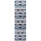 Paugh Premium Southwestern Natïve Blue/Gray Area Rug Rug Size: Runner 2'2