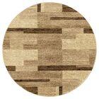 Him Premium Geometric Vintage Beige Area Rug Rug Size: Round 7'10