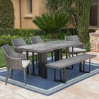 Moshier Outdoor 6 Piece Dining Set with Cushions Color: Gray, Cushion Color: Light Gray