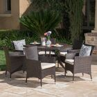 Seager Outdoor 7 Piece Dining Set with Cushions