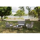 Lilley Garden Lawn Outdoor 4 Piece Rattan Sofa Seating Group with Cushions