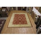 One-of-a-Kind Bovill Chobi Peshawar Pakistan Oriental Hand-Knotted Wool Red/Beige Area Rug