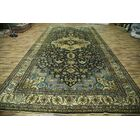 One-of-a-Kind Rocky Heriz Oriental Hand-Knotted Wool Green Area Rug