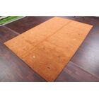 Seidman Indian Oriental Hand-Knotted Wool Orange Area Rug