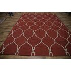 Senna Trellis Oriental Hand-Tufted Wool Red Area Rug Rug Size: Rectangle 9' x 12'