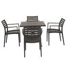 Weingarten Commercial Grade 5 Piece Dining Chair Set Color: Black