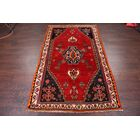 One-of-a-Kind Traditional Shiraz Persian Hand-Knotted 4' x 6'8