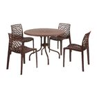 Whitaker Commercial Grade 5 Piece Dining Chair Set Color: Brown