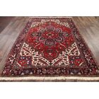 One-of-a-Kind Heriz Persian Hand-Knotted 6'9