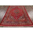 One-of-a-Kind Mashad Genuine Persian Vintage Hand-Knotted 6'6