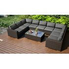 Arden 10 Piece Surround Sectional Set with Cushions Fabric: Charcoal