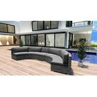 District 3 Piece Extended Curved Sectional Set with Cushions Fabric: Charcoal