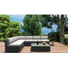 District 7 Piece Sectional Set with Cushions Fabric: Natural