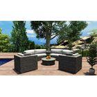 District 6 Piece Sunbrella Sofa Set with Cushions Fabric: Beige