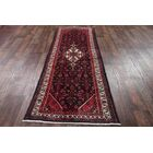 One-of-a-Kind Hamedan Persian Geometric Hand-Knotted 3'6