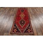 One-of-a-Kind Shiraz Traditional Abadeh Persian Geometric Hand-Knotted 3'1